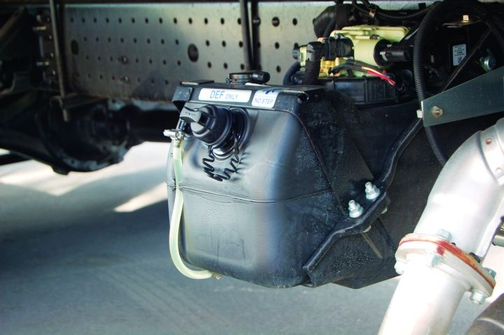 Gallery: The reservoir for the diesel exhaust fluid (DEF ...