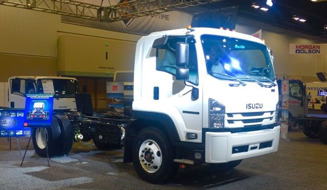 Isuzu FTR, launched at the 2016 NTEA - The Work Truck Show. (PHOTO: Mike Antich)