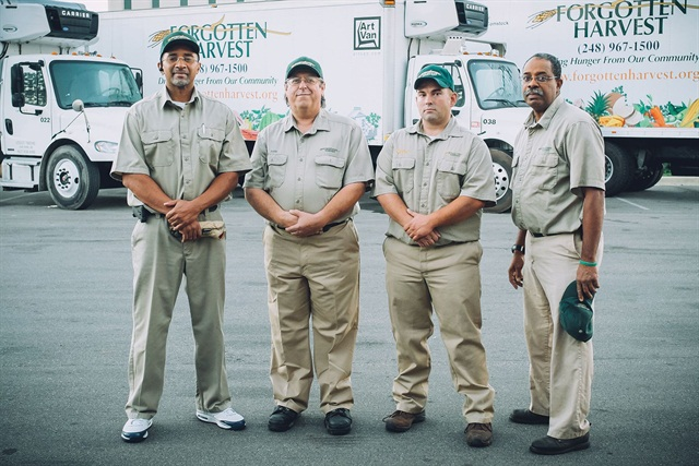 Forgotten Harvest's 26 truck drivers rescue food from 800 food donors and deliver to 280 food emergency agencies throughout metro Detroit.
