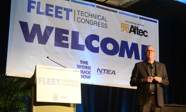 Ed Peper, U.S. vice president of General Motors Fleet, gave the opening keynote address on the future of the fleet industry. (Photo: Roselynne Reyes)
