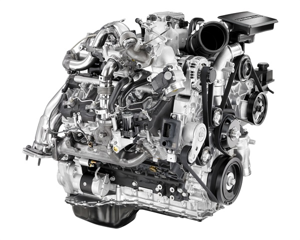 An option for Chevrolet and GMC is the Duramax 6.6L turbodiesel. (Photo: General Motors)