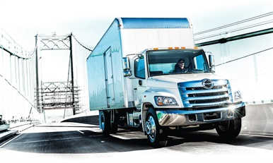 Hino's lineup of cabover and conventional trucks total 13 models for 2018, including the 268A (pictured) with a 25,950-pound GVWR. (Photo: Hino)