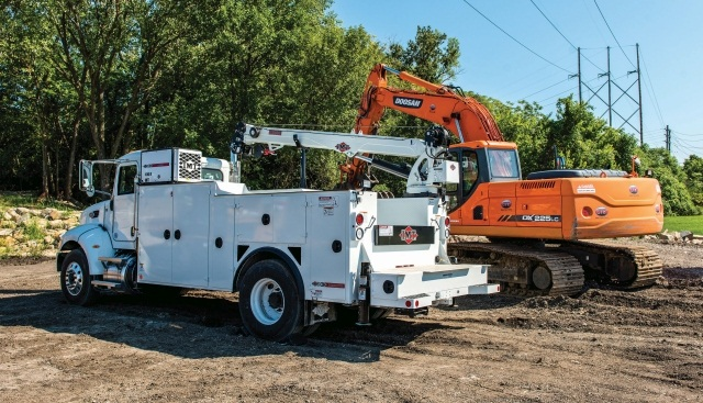 For its service truck fleet, one of the models utilized by McKenna General Engineering Inc. is the Dominator II mechanics truck. (PHOTO: IMT)