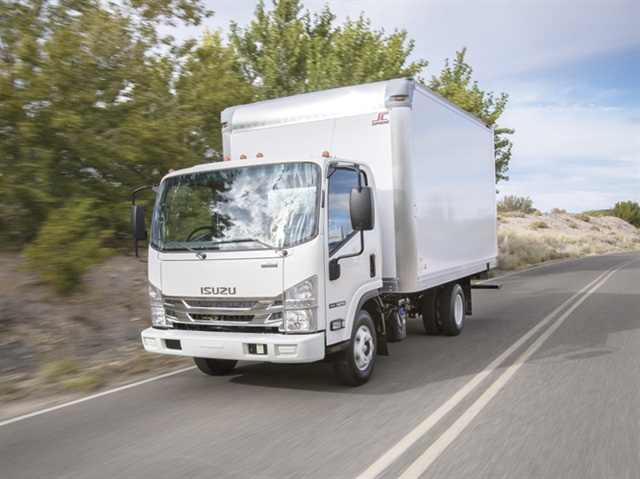 The 2016 Isuzu NPR Diesel features a standard 33.5-inch chassis width, which allows for upfitting of standard bodies. (Photo: ICTA)