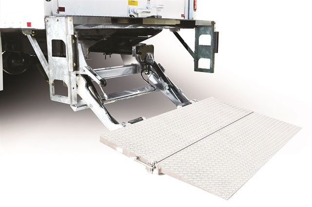 Galvanized steel, as in this liftgate from Maxon Lift, is one tactic manufacturers use to prevent corrosion. Photo: Maxon Lift