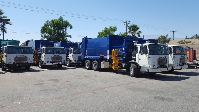 Long Beach's fleet is mainly used in five categories: police, fire, refuse collection, public works, and street sweeping. (Photo courtesy of the City of Long Beach Fleet Services)