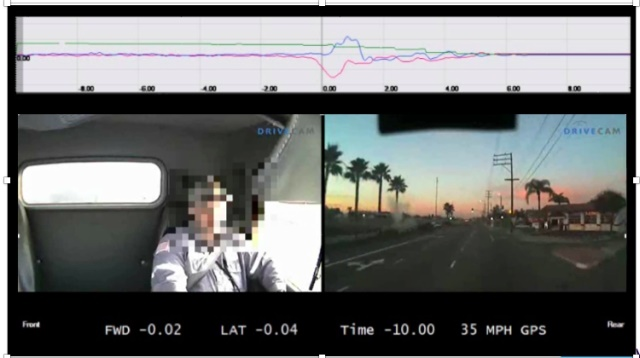Lytx offers the DriveCam video telematics safety solution that collects data from a windshield-mounted event recorder. (Image courtesy of Lytx)
