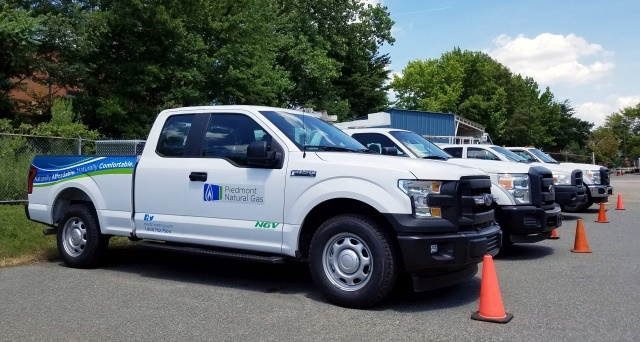 Approximately 73% of the Piedmont Natural Gas fleet is comprised of light-duty trucks, with a number of natural-gas-powered Ford F-150s. (Photo: Piedmont Natural Gas)