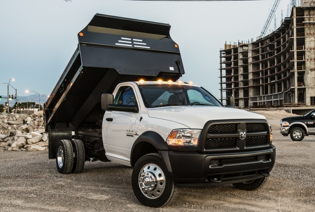Ram 3500, 4500, and 5500 commercial chassis cabs have received towing capacity and maximum trailer weight upgrades. (Photo courtesy of FCA US LLC)