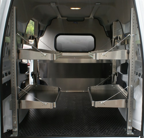 Ranger Design specializes in shelving and accessory packages for any application that adapt to the contours of each vehicle. (Photo courtesy of Ranger Design)