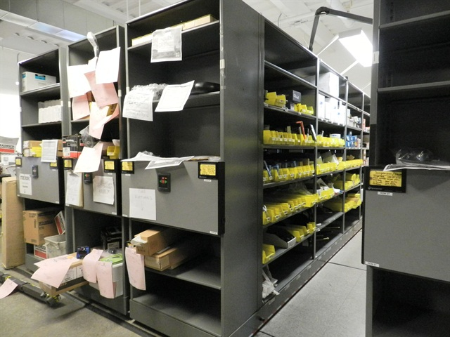 The City Of Scottsdale Ariz Installed Mobile Shelving Units During A Parts Room