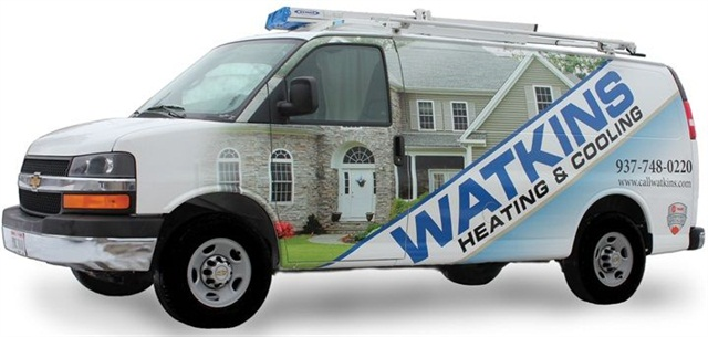 The 15-vehicle HVAC fleet turned to alternative fuels to save on changing fuel expenses. (PHOTO: Watkins Heating & Air)