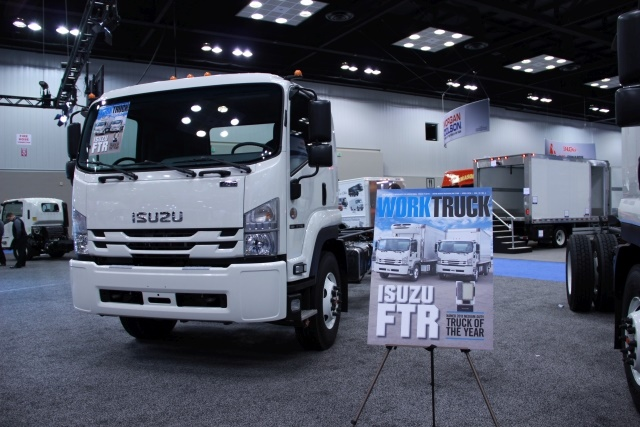 Isuzu Commercial Truck of America took home Work Truck's 2018 Medium-Duty Truck of the Year award for the FTR. (Photo by Lauren Fletcher)