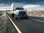 Box truck versions of the F-650/F-750 are among the vocational upfits available for fleets. Photo: Ford Motor Company