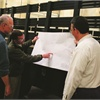 Guy Chollet, engineering manager, Jim Dondlinger, president, and Pete Taskovic, process manager, work together to ensure projects go according to plan.