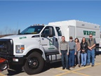 <p>(L-R) Kevin Fitzpatrick, Alan Mace, Lacy Fitzpatrick, Stephanie Burkman, and Matt Lair of Wright Tree Service rely on Ford medium-duty models to serve their clients' needs. Photo: Wright Tree Service</p>