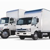 In January 2010, Hino completely restyled its Class 6 and 7 truck lineups (far left). For the 2012 model-year, Hino debuted an  all-new Class 4 cab-over-engine truck, the 155 diesel model (right) and a diesel-electric hybrid model, the 155h.