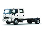 The Hino 195 diesel and 195h diesel-electric hybrid are now available as a standard two-door cab, or as an optional four-door double cab.