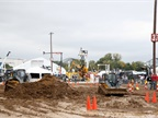 The ICUEE show features hands-on demonstrations of utility and construction equiment both on the show floor and in the demo zone. (Photo: ICUEE)