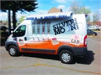 The vehicle graphics on the Moon Rover are bold and eye-catching, working to serve as a mobile billboard when the vehicle hits the road for local events, including fund-raisers and races. (PHOTO: Silver Moon Brewing)