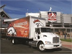 One of Bailey's trucks has become a popular photo-op for Denver Broncos fans. Decorated with the Broncos colors and logo, this Kenworth truck delivers the team's equipment.