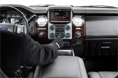 The MY-2013 Super Duty Platinum Series features an all-new interior and touch-screen functionality designed specifically for drivers who may be wearing heavy work gloves.
