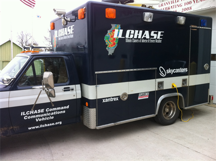 ILCHASE has designed and built a mobile command vehicle called MOOCH (Mobile Observation Operations Command Housing) to help ILCHASE and other emergency management companies in a stricken area.