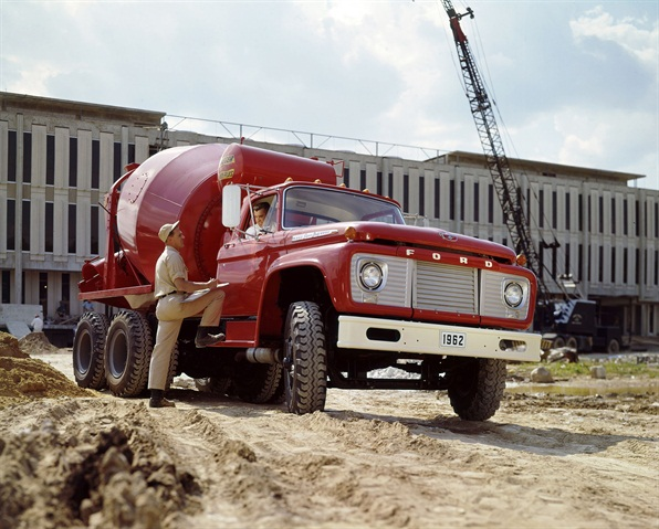 gallery a 1962 ford f 850 truck with concrete mixer at a. Black Bedroom Furniture Sets. Home Design Ideas