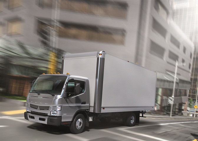 The FUSO Canter FE125 accommodates the same rear body widths and