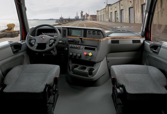 International said the RH interior is designed around how a driver