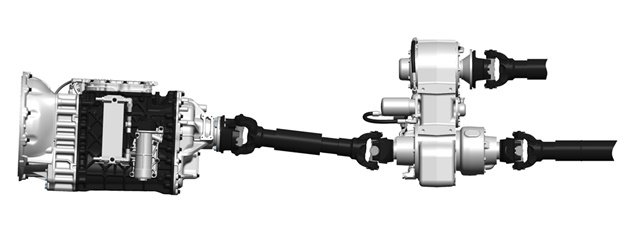 Mack Trucks introduced a new split-shaft functionality for its Mack mDrive HD automated manual transmissions, providing customers with high-demand power take off (PTO) needs a fully integrated solution. Photo: Mack Trucks