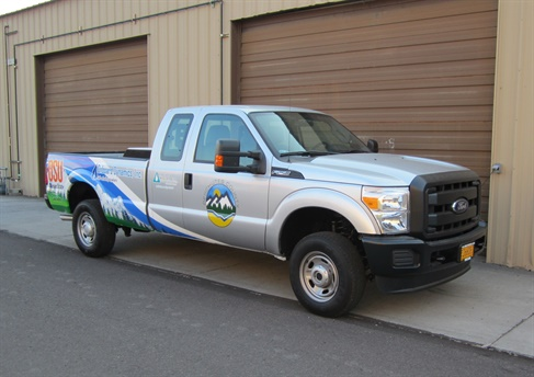 The upfitted truck would travel about 100 miles a day, including about 65 miles on CNG. Photo courtesy of Deschutes County
