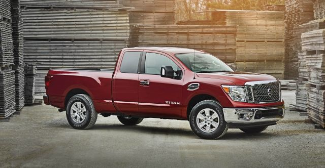 "The 2017 Nissan Titan King Cab offers available 6-person seating, wide-opening rear doors and a ""rear seat delete"" option for commercial use with its flat floor and secure in-cab storage space. Photo courtesy of Nissan."