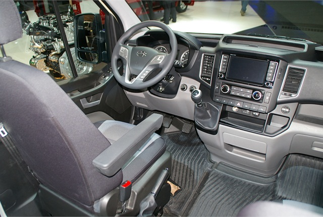 Interior of the H350 at IAA Commercial Vehicle Show in Germany last fall.