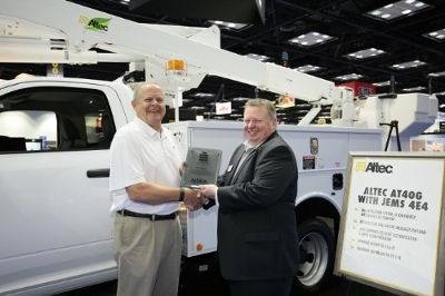 The Green Award recognizes the product at the Show that best improves work truck fuel utilization, as determined by a panel of trade media editors and truck fleet managers. (PHOTO: PR Newswire)
