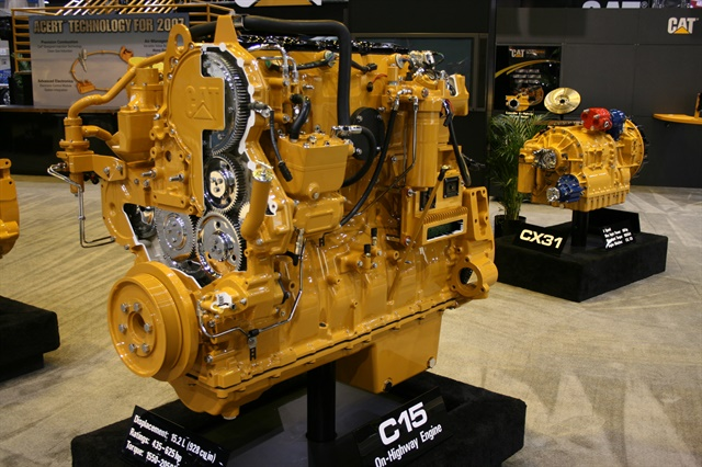 Caterpillar touted its unique ACERT technology as the answer to EPA 2007 emissions regs. HDT file photo by STF