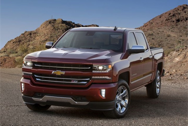 Photo of 2016 Chevrolet Silverado courtesy of GM.