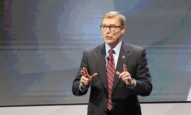 """Navistar is now writing the next chapter of our story,"" said Troy A. Clarke, chairman, president and CEO, Navistar. Photo: Evan Lockridge"