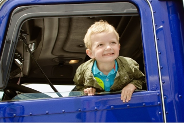 Born in 2009, Brayton was diagnosed at two months old with a rare immunodeficiency called Hemophagocytic Lymphohistiocytosis (HLH). In his first year, he underwent a bone marrow transplant and months of chemotherapy as he battled the incurable condition and side effects. (Photo: RoadPro)