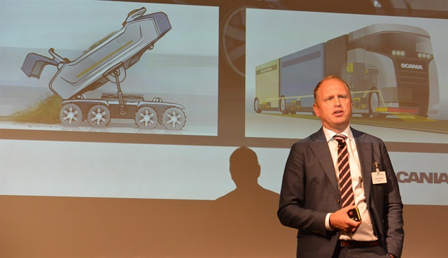 Henrik Henriksson, CEO of Scania, said autonomous trucks in the first round will go to the mining industry. Photo: Sven-Erik Lindstrand