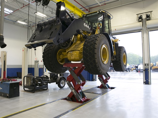 The Stertil-Koni ECOLIFT provides wheels free lifting via an ultra-shallow, full-rise in-ground, and axle engaging vehicle lift. (Photo courtesy of Steril-Koni)
