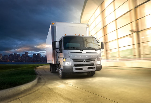 Businesses can expense up to $500,000 in tax year 2017 for certain capital expenditures, including commercial work trucks such the FUSO FE/FG Series. (Image courtesy of Mitsubishi Fuso Truck of America)