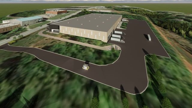 A digital rendering of the new facility shows its overall size and capacity as it adds a fourth line to operations. (Photo: FCCC)