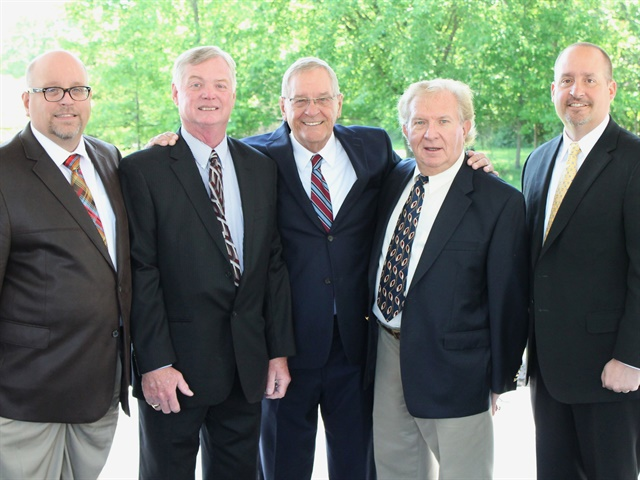 (l. to r.) Ron Mawaka, Jr. , Claude Nolty, Ron Mawaka Sr., Myron Zadony, Scott Mawaka.