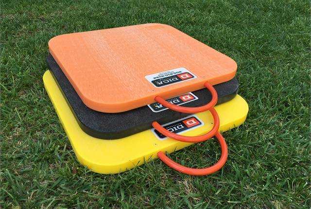 Photo of Hi Viz outrigger pads courtesy of DICA
