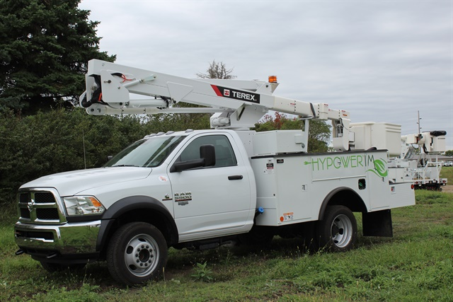The HyPower IM, introduced earlier this year, is an idle mitigation system for aerial devices. Photo courtesy of Terex Utilities