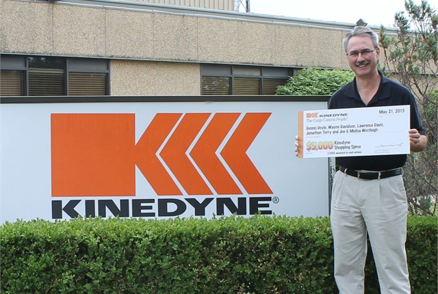 The five winners of the Kinedyne sweepstakes included: Dennis Doyle, Farm Boy Inc.; Wayne Davidson, C&W Gooseneck Services; Lawrence Davis, Davis Express Trucking, LLC; Jonathan Terry, J.D. Terry; and Joe Westleigh, J&M Westleigh Inc.