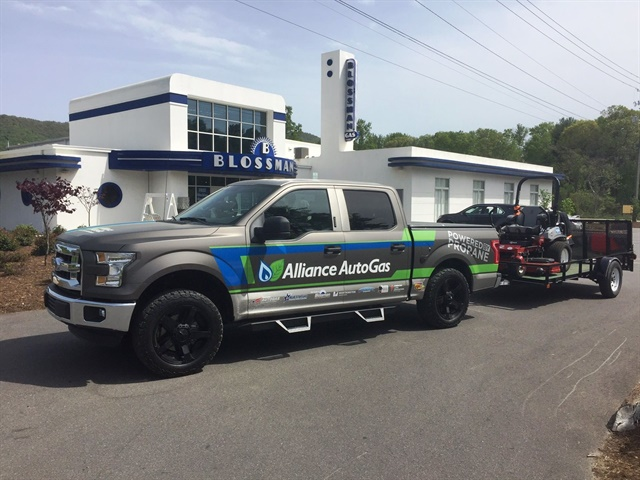 The Ford F-150 leaves Asheville, heading on to Oklahoma City. (PHOTO: Alliance Autogas)