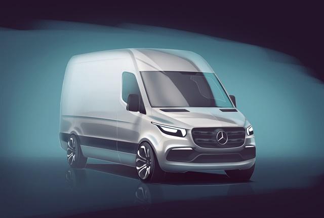 Sketch of the next-generation Mercedes-Benz Sprinter courtesy of Daimler.