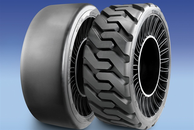 The Tweel SSL is designe for use on skid steer loaders. Photo courtesy of Michelin.